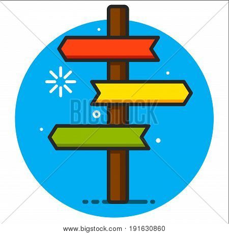 signpost icon illustration art graphic design vector