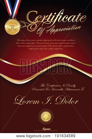 Certificate Or Diploma Retro Vintage Template 5.eps