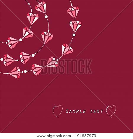 abstract jewellery background with diamond-shaped beads vector