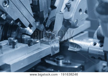 The tapping tool maker machine.Drilling tool machine