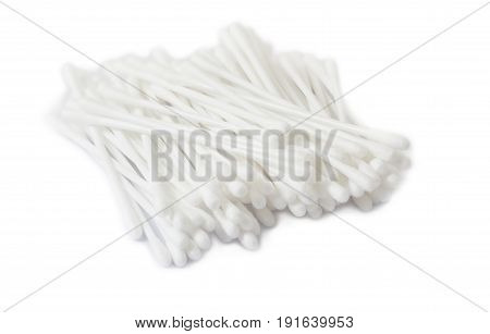 cotton bud or cotton swap on white background
