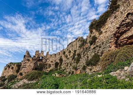 View of the Old Navarino castle or Paliokastro in Peloponnese, Greece