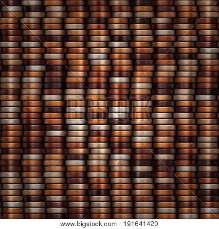 Bronze coins stack abstract digital texture currency background