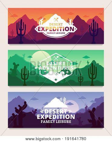 Desert Adventures Horizontal Banner Set