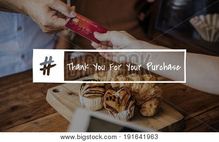 Purchase Buy Pay Check Word Graphic Hashtag