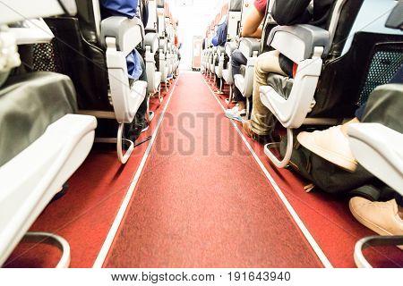 Floor Proximity Reflector Line Aids Airplane Evacuation Under Dark Conditions.
