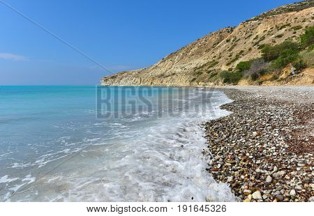Beach And Beautiful Tropical Sea. Summer Vacation Concept