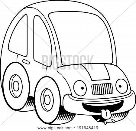Hungry Cartoon Car