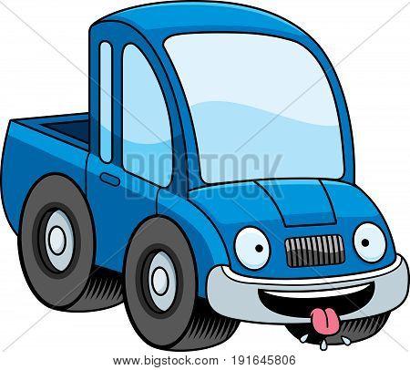 Hungry Cartoon Pickup Truck