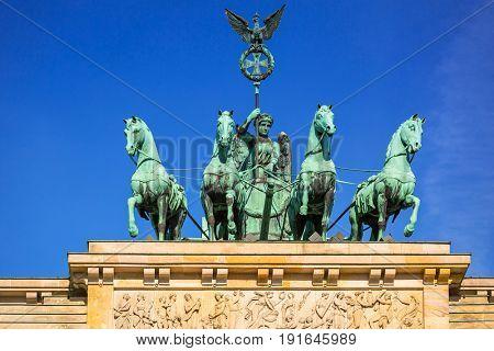 Quadriga of the Brandenburg Gate in Berlin, Germany