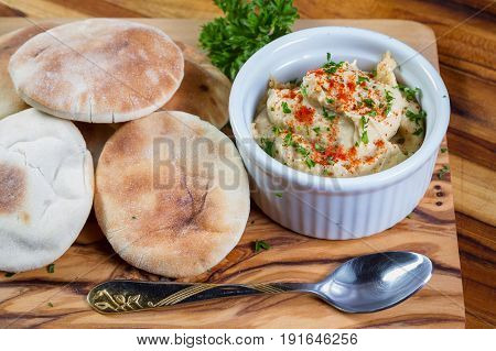 Hummus Topped With Paprika