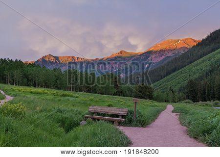 a beautiful Colorado mountain landscape in summer
