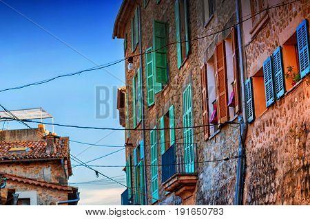 Street view in Valldemossa Mallorca in Spain.