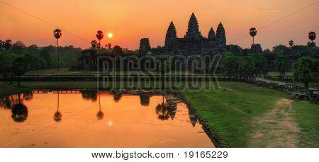Angkor Wat sunrise at Siem Reap. Cambodia