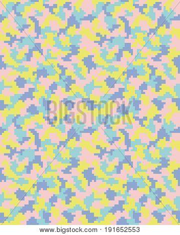 Seamless digital fashion camouflage pattern, illustration texture