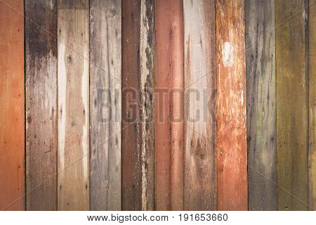 Wall of old woods in difference texture sorting by vertical style.
