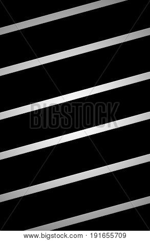 Black background with glowing silver lines across / Abstract illustration