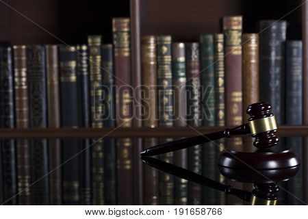 Justice concept. Gavel of the judge. Lady justice.