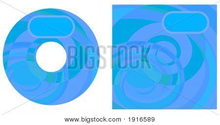Cd Swirls Blue