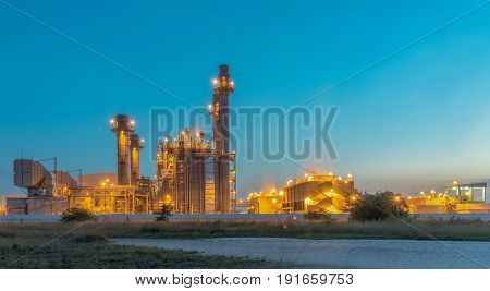 electric power plant building during sunset time