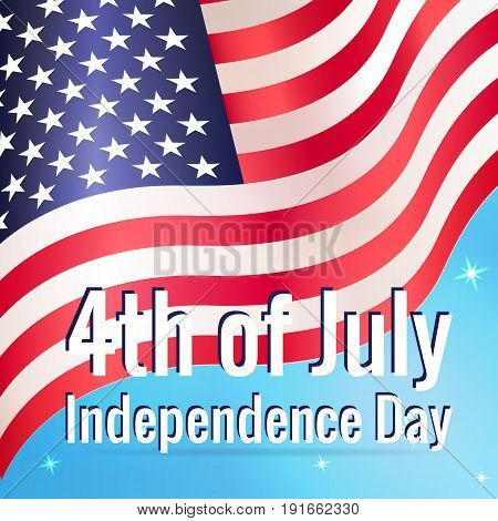 4Th Of July Card. Greeting Banner To Usa Happy Independence Day.