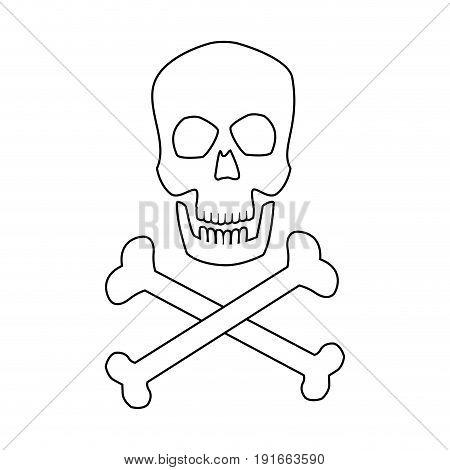 medical skull bones crossed human danger concept vector illustration