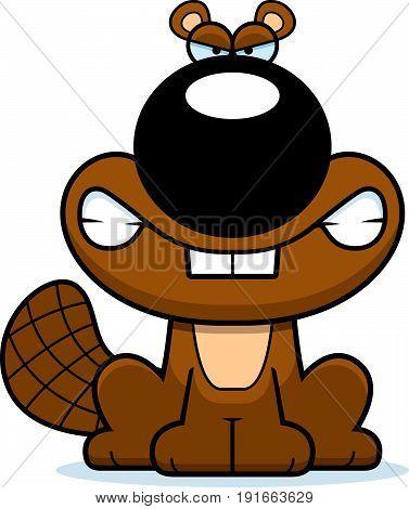Angry Cartoon Beaver