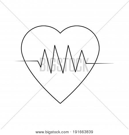 heartbeat cardiology healthy medical symbol vector illustration