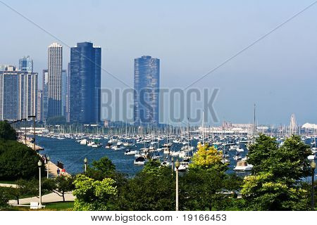 View on Chicago city