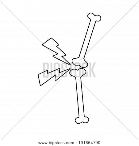 bone pain point problems joints medial icon vector illustration