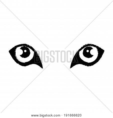 Wild jaguar eyes icon vector illustration graphic design