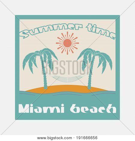 surf summer time beach miami Florida surfing t-shirts T-shirt inscription typography graphic design emblem