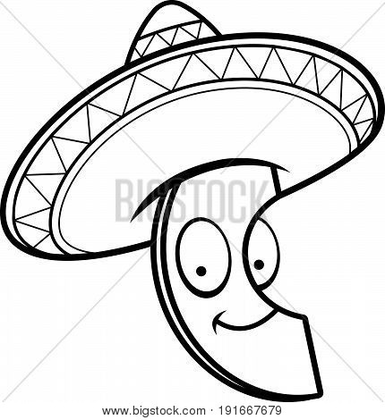 Cartoon Avocado Sombrero