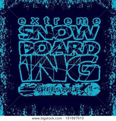 T-shirt snowboarding extreme sports athletics Typography Fashion college sport design