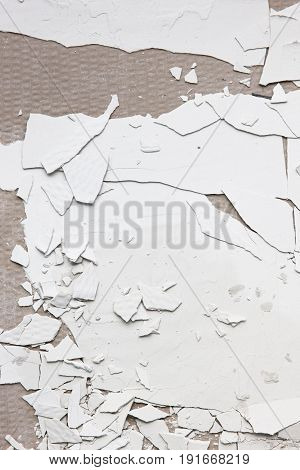 Old Crack Plaster Wall Background Repair Construction Peel Building Gyps Piece Concept