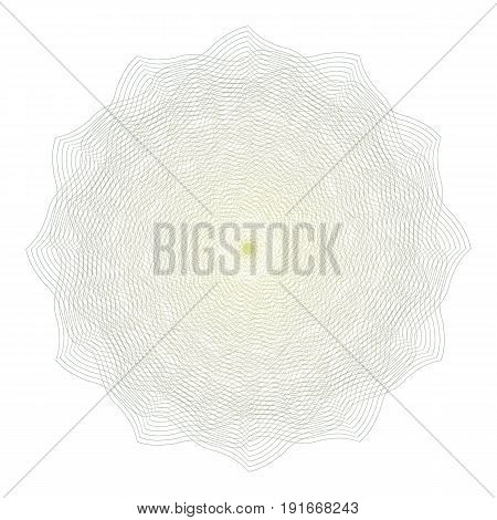 Guilloche Rosette Vector. Decorative Rosette Elements For Diploma Or Passport. Guilloche Background