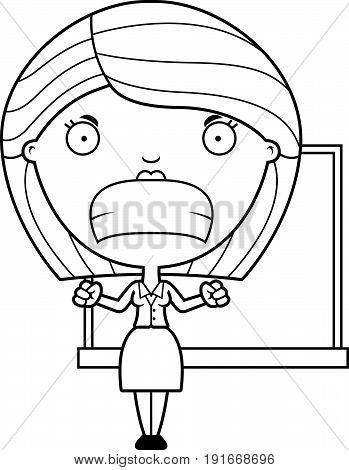 Angry Cartoon Teacher