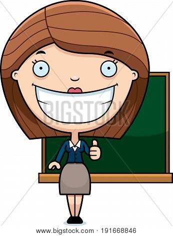 Cartoon Teacher Thumbs Up