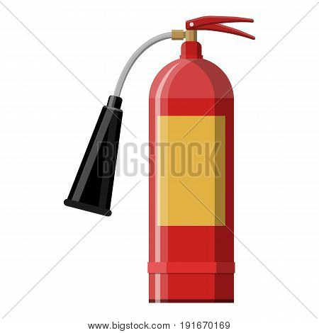 Fire extinguisher. Fire equipment. Vector illustration in flat style