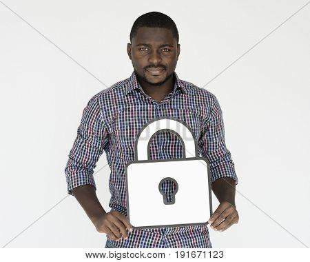 Man Hold Locked Authorization Privacy