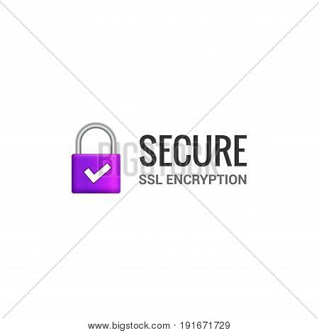 Secure internet connection SSL icon. Isolated secured lock access to internet illustration design. SSL safe guard.