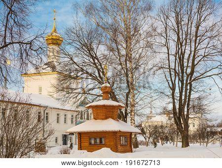 The Tolga Convent in Yaroslavl in winter