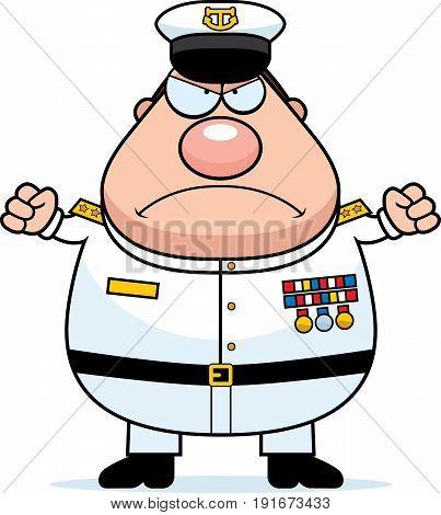 Angry Cartoon Navy Admiral
