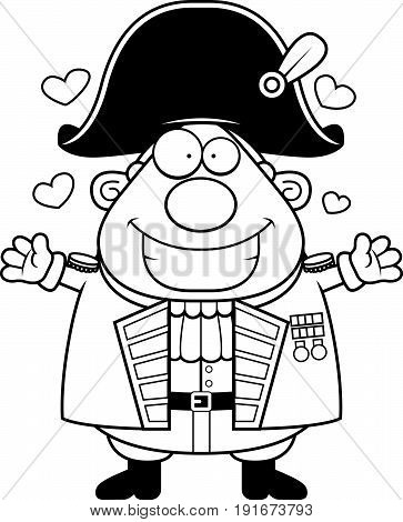Cartoon British Admiral Hug