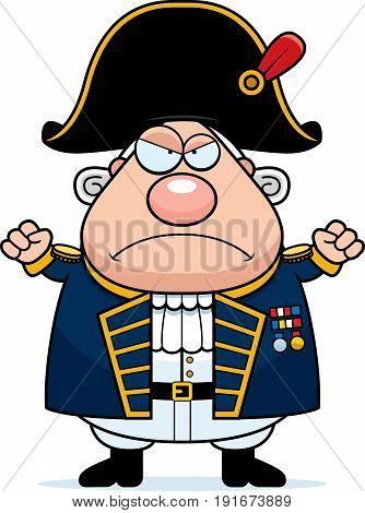 Angry Cartoon British Admiral
