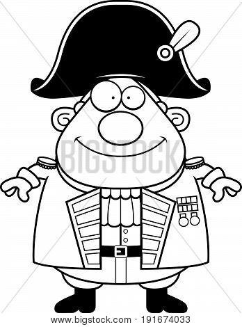 Happy Cartoon British Admiral