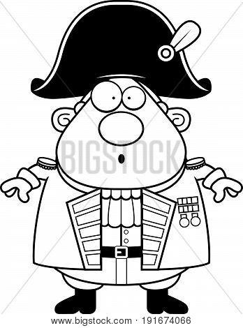Surprised Cartoon British Admiral