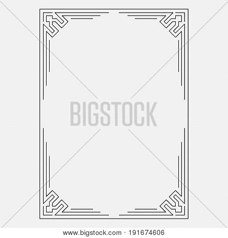 Frame image abstract design decorative ornamental frame