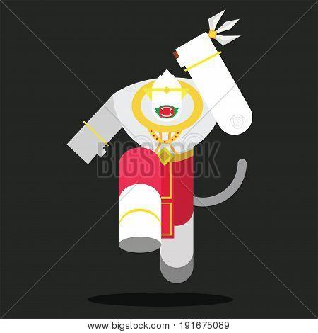 Hanuman Of Thai  in Ramayana Thai story.
