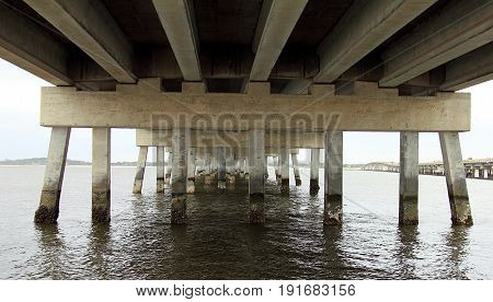 Under the old abandoned bridge in Florida